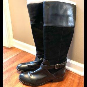 Ralph Lauren 'Maryann' Black 17 Inch Boots 1968